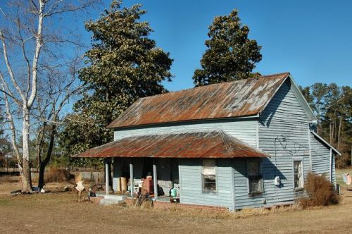 long county ga double pen farmhouse photograph copyright brian brown vanishing south georgia usa 2010