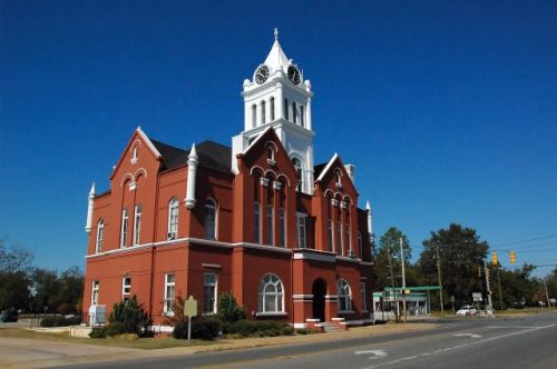 schley county courthouse ellaville ga photograph copyright brian brown vanishing south georgia usa 2010