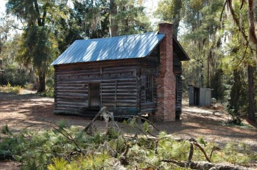 blackville ga single pen log house photograph copyright brian brown vanishing south georgia usa 2011