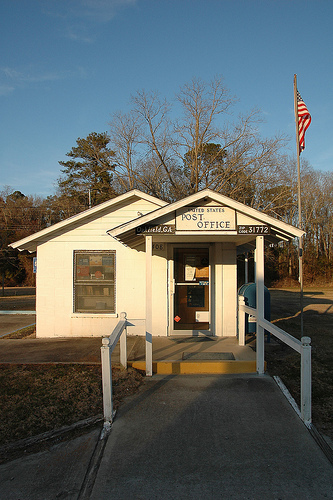 oakfield ga us post office photograph copyright brian brown vanishing south georgia usa 2011