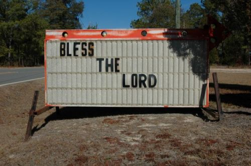 ohoopee holiness church bless the lord sign photograph copyright brian brown vanishing south georgia usa 2011