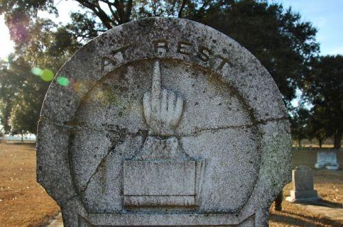 old shiloh cemetery hand pointing toward heaven tattnall county ga photograph copyright brian brown vanishing south georgia usa 2011
