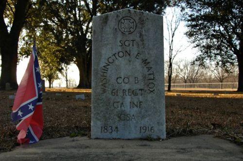 old shiloh cemetery sgt washington mattox confederate veteran photograph copyright brian brown vanishing south georgia usa 2011