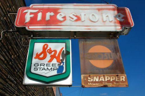 soperton ga e g webb firestone auto home store signs photograph copyright brian brown vanishing south georgia usa 2011