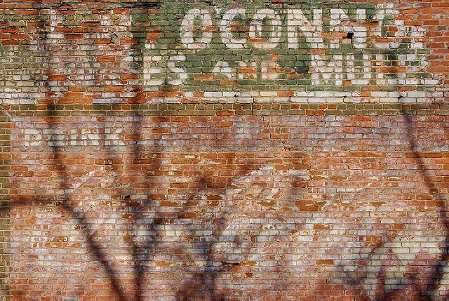 soperton ga o connor horses mules coca cola mural photograph copyright brian brown vanishing south georgia usa 2011