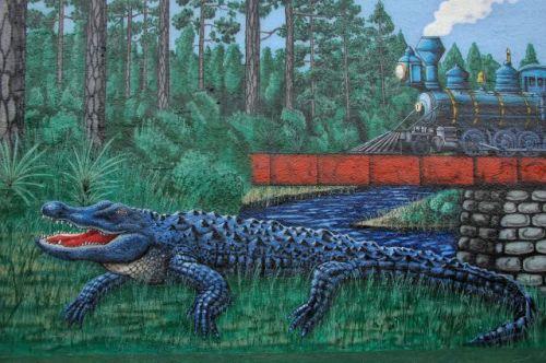 folkston ga mural alligator photograph copyright brian brown vanishing south georgia usa 2011