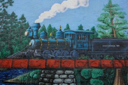 folkston mural okefenokee railroad photograph copyright brian brown vanishing south georgia usa 2011