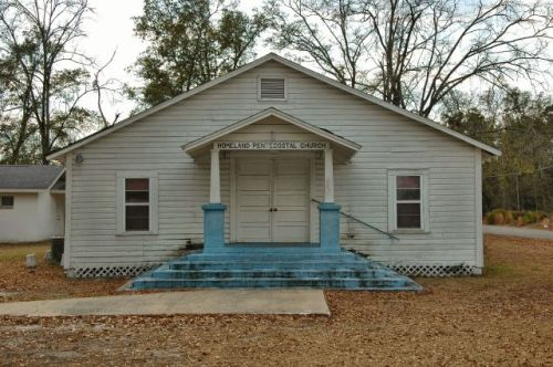 homeland pentecostal church charlton county ga photograph copyright brian brown vanishing south georgia usa 2011