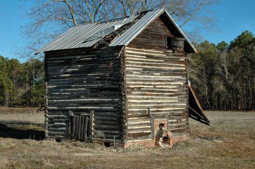 tattnall county ga log tobacco barn photograph copyright brian brown vanishing south georgia usa 2011