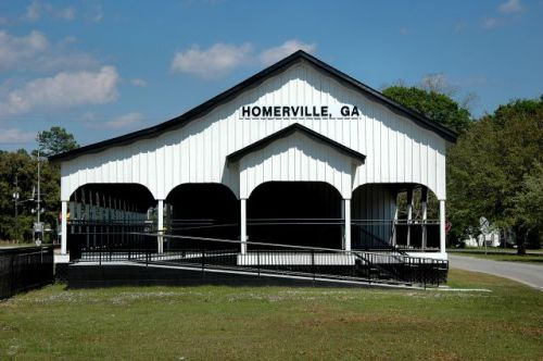 homerville ga a c l depot station no 11 photograph copyright brian brown vanishing south georgia usa 2011