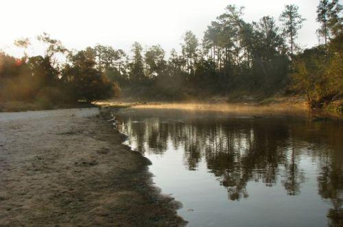 ohoopee river at daybreak tattnall county ga photograph copyright brian brown vanishing south georgia usa 2011