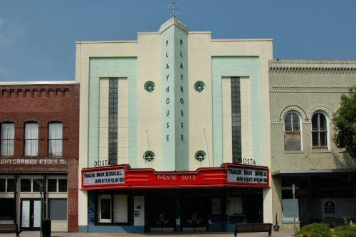 valdosta ga dosta theatre playhouse photograph copyright brian brown vanishing south georgia usa 2011