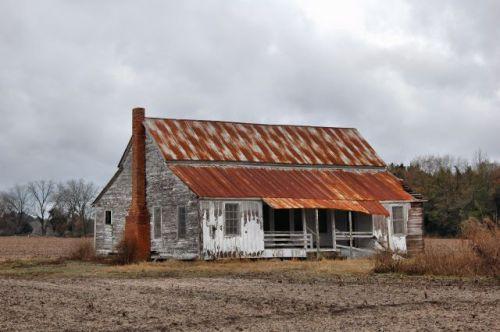 appling county ga double pen farmhouse winter photograph copyright brian brown vanishing south georgia usa 2011