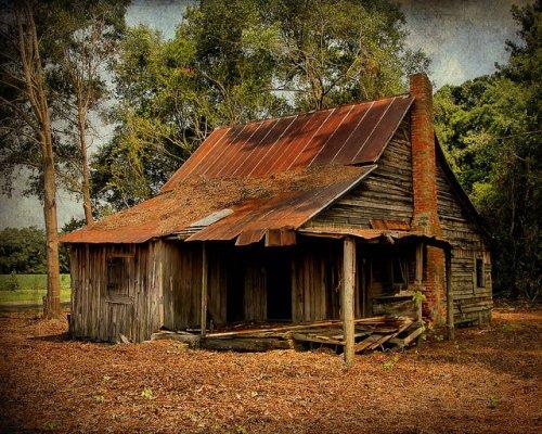 Cracker Farmhouse Appling County GA Vernacular Architecture Landmark Copyright Brian Brown Vanishing South Georgia USA 2015