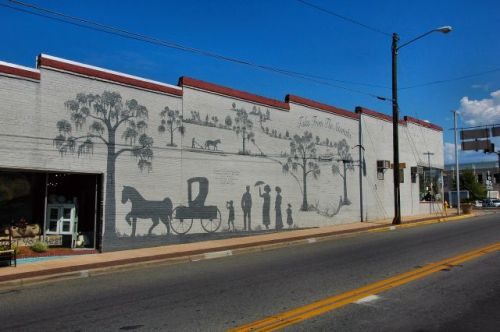 tales from the altamaha lyons ga mural photograph copyright brian brown vanishing south georgai usa 2011