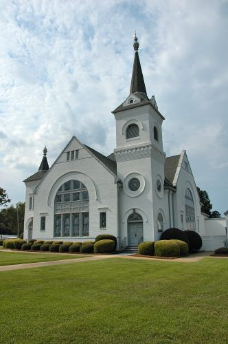 blakely ga historic methodist church photograph copyright brian brown vanishing south georgia usa 2010