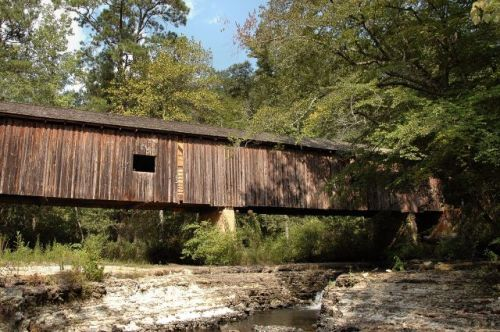 coheelee creek covered bridge early county ga photograph copyright brian brown vanishing south georgia usa 2011