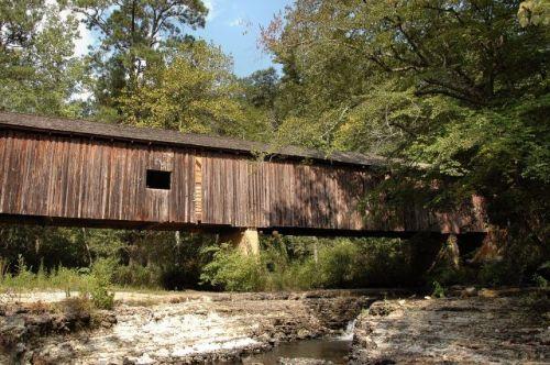 coheelee creek covered bridge early county ga photograph copyright brian brown vanishing south georgia usa 2011