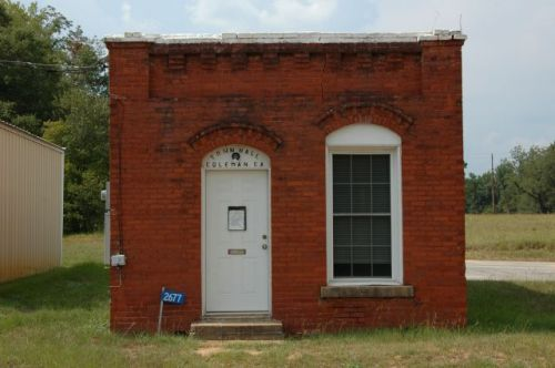 coleman-ga-town-hall-dr-harpers-medical-office-photograph-copyright-brian-brown-vansihing-south-georgia-usa-2011