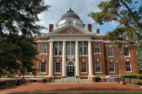 early county courthouse blakely ga photograph copyright brian brown vanishing south georgia usa 2016