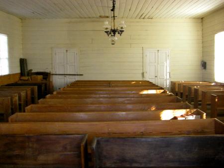 historic providence methodist church stewart county ga interior photograph copyright brian brown vanishing south georgia usa 2009