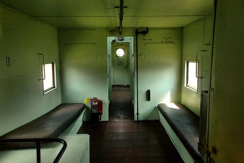 atlantic-coast-line-caboose-rear-interior-fitzgerald-ga-photograph-copyright-brian-brown-vanishing-south-georgia-usa-2011