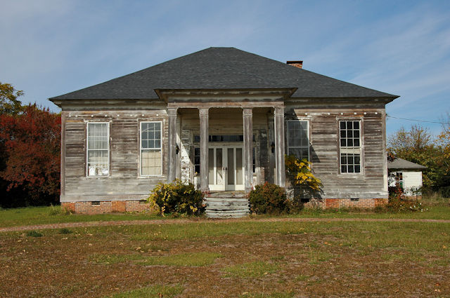 greek revival farmhouse houston county - Greek Revival Cottage