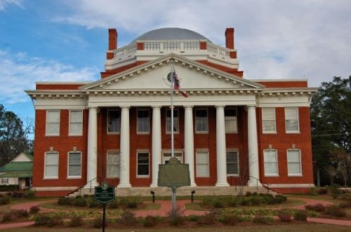 historic effingham county courthouse springfield ga photograph copyright brian brown vanishing south georgia usa 2009