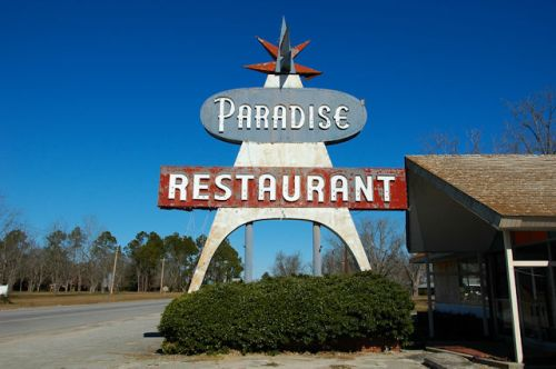 paradise-restaurant-sign-cooperville-ga-photograph-copyright-brian-brown-vanishing-south-georgia-usa-2012