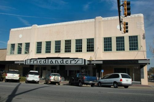 historic downtown moultrie ga friedlanders department store photograph copyright brian brown vanishing south georgia usa 2012
