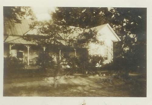 Pavo GA Folk Victorian House on Sycamore Street Vintage 1940s Photograph