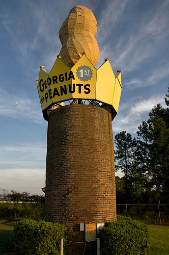 ashburn-ga-peanut-monument-photograph-copyright-brian-brown-vanishing-south-georgia-usa-2012