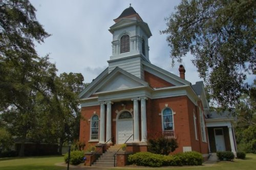 cuthbert ga historic presbyterian church photograph copyright brian brown vanishing south georgia usa 2012