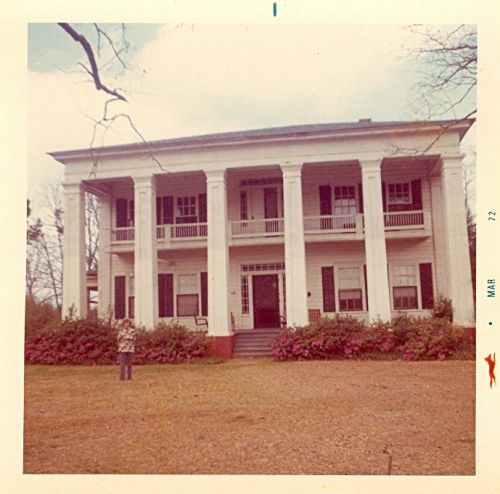 George Blaskow Residence Baptist Female College Dormitory Vintage 1972 Photographs Cuthbert GA Landmark Randolph County Courtesy of Kathy Wagoner for Vanishing South Georgia USA 2013