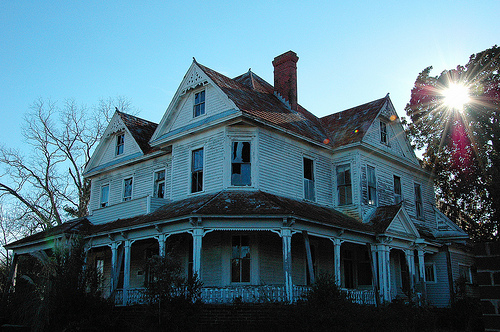 Ashburn GA Turner County Evans Applewhite House Folk Victorian Queen Anne Architecture Mansion House Abandoned Sunset Picture Image Photo © Brian Brown Vanishing South Georgia USA 2012