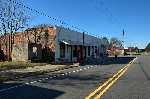 Tarrytown GA Montgomery County Ghost Town Early 20th Century Commercial Storefronts Highway Picture Image Photo © Brian Brown Vanishing South Georgia USA 2012