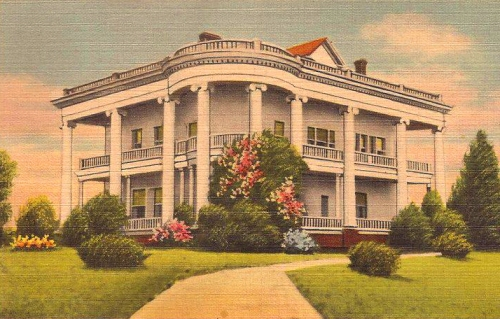 Garbutt House Lyons GA Twenty Columns Antique Postcard Courtesy of Bobby Thomas Atkins Vanishing South Georgia USA 2013