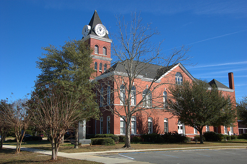 Jesup GA Wayne County Courthouse Romanesque Revival Clock Tower Picture Image Photograph © Brian Brown Vanishing South Georgia USA 2013