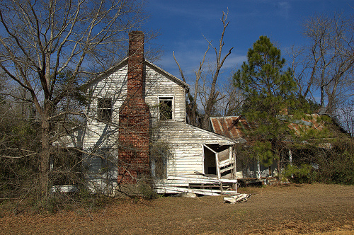 Kennedy Bridge Road Bulloch County GA Abandoned Farmhouse Cracker Vernacular Detached Kitchen Picture Image Photograph © Brian Brown Vanishing South Georgia USA 2013