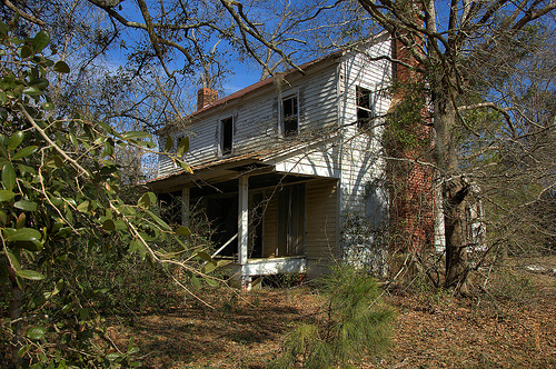 Kennedy Bridge Road Bulloch County GA Abandoned Farmhouse Cracker Vernacular I House Old Detached Kitchen Picture Image Photograph © Brian Brown Vanishing South Georgia USA 2013
