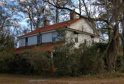 Ludowici GA Long County Tile Roof House 19th Century Abandoned Landmark Johnston's Station Picture Image Photo © Brian Brown Vanishing South Georgia USA 2013