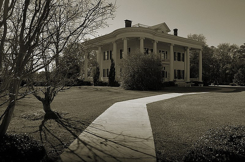 Lyons GA Toombs County Neoclassical Revival Landmark Architecture Robert Missouri Garbutt House Nationa Register of Historic Places Black and White Picture Image Photo © Brian Brown Vanishing South Georgia USA 2013