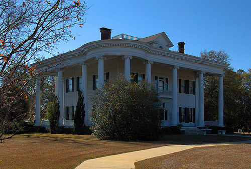 Lyons GA Toombs County Neoclassical Revival Landmark Architecture Robert Missouri Garbutt House National Register of Historic Places Picture Image Photo © Brian Brown Vanishing South Georgia USA 2013