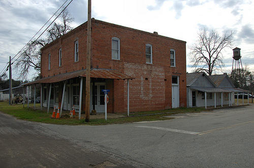 Morven GA Brooks County Masonic Lodge Old Mural Storefronts Picture Image Photo © Brian Brown Vanishing South Georgia USA 2013