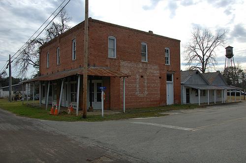 Morven GA Brooks County Masonic Lodge Old Mural Storefronts Picture Image Photo © Brian Brown Vanishing South Georgia USA 2013