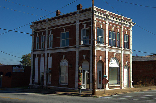 Vidalia GA Toombs County Downtown Commercial Historic District First National Bank Building Picture Image Photo © Brian Brown Vanishing South Georgia USA 2013