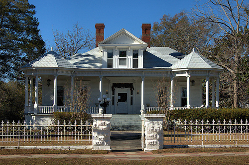 Vidalia GA Toombs County Historic District Jackson Street Architecture House Neoclassical Revival Picture Image Photo © Brian Brown Vanishing South Georgia USA 2013