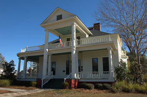 Vidalia GA Toombs County Historic District Jackson Street Greek Revival Architecture House Mansion High Columns Picture Image Photo © Brian Brown Vanishing South Georgia USA 2013