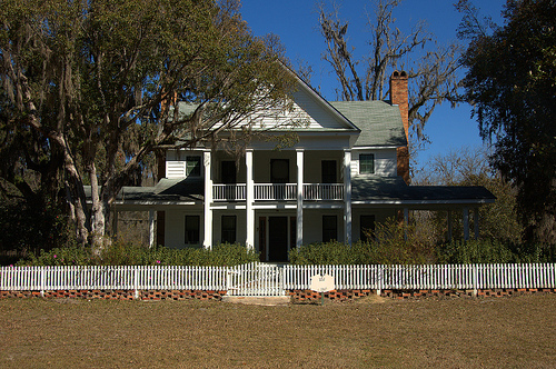 Altamaha GA Tattnall County Vanished Community Tod Pearson House Antebellum Architecture White Picket Fence Picture Image Photograph © Brian Brown Vanishing South Georgia USA 2013