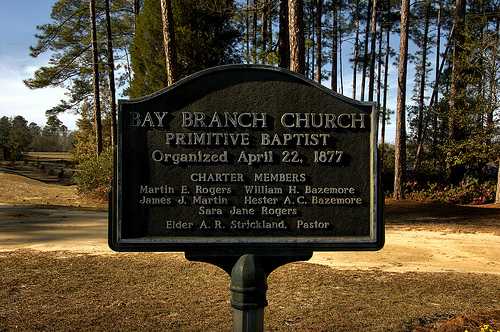 Bay Branch Primitive Baptist Church Historic Marker Evans County GA Picture Image Photograph © Brian Brown Vanishing South Georgia USA 2013
